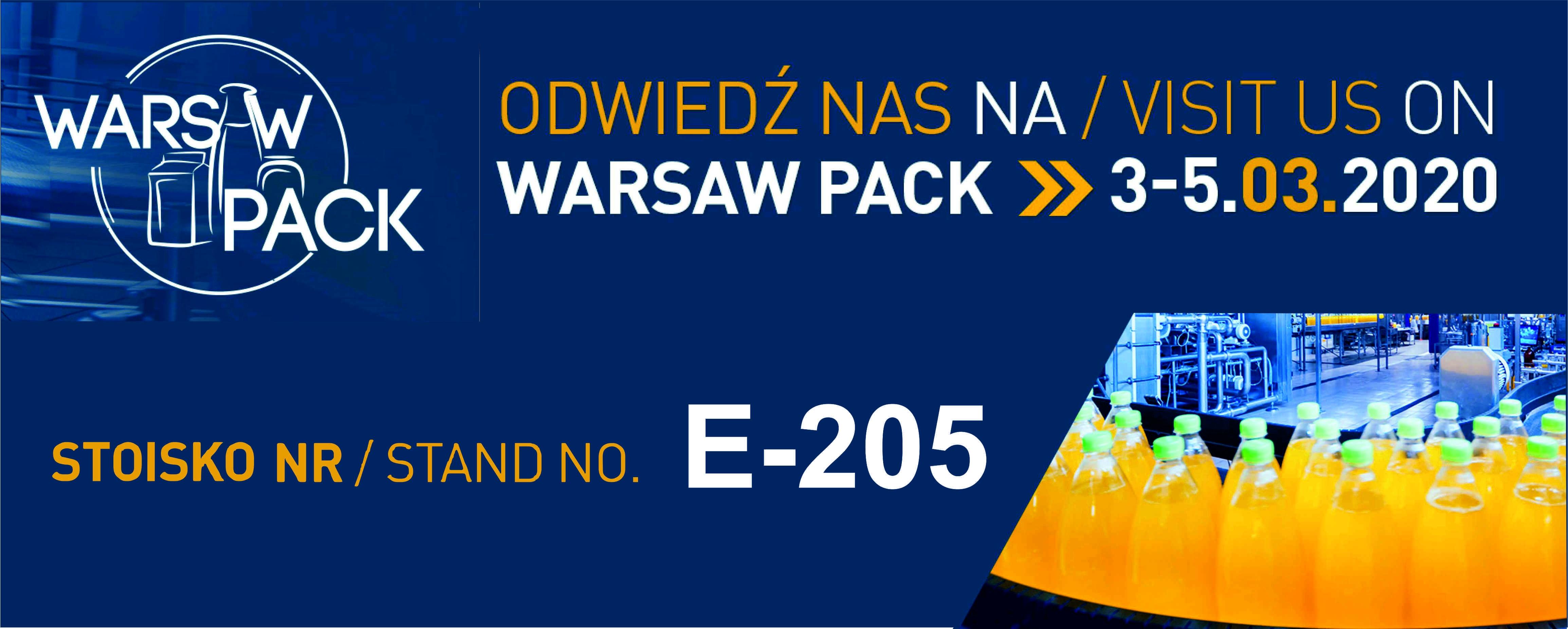 Zapraszamy na targi WARSAW PACK do Nadarzyna
